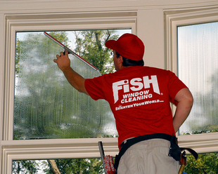 Interior residential window cleaning
