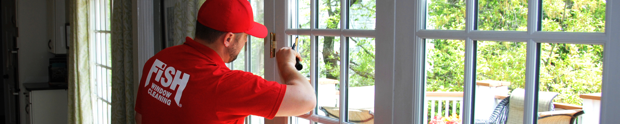 Residential Window Cleaning Services Fish Window