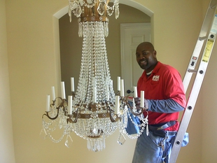 Fish window cleaning los angeles south bay ca manhattan beach chandelier light fixture cleaning mozeypictures Images