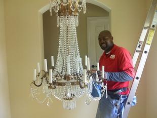 Chandelier Light Fixture Cleaning