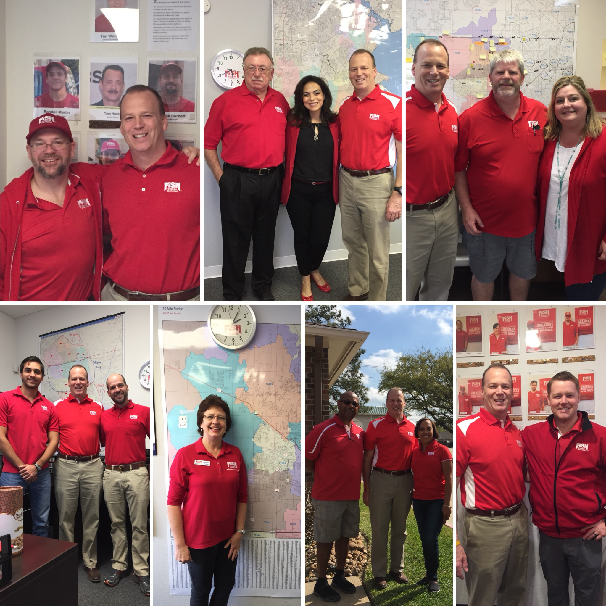 Collage of Photos with Randy Cross and Franchisees