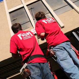 Lafayette CA Window Cleaners Using Poles to Clean Exterior Windows