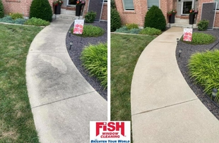 Pressure Washing Before & After by Fish Window Cleaning