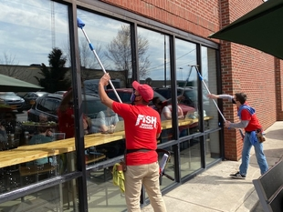 Fish Window Cleaners Cleaning K Brew in Knoxville TN